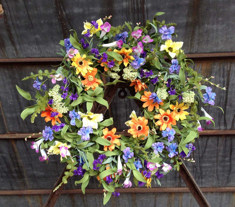 "Spring Delight Wreath - 22"" - 2"