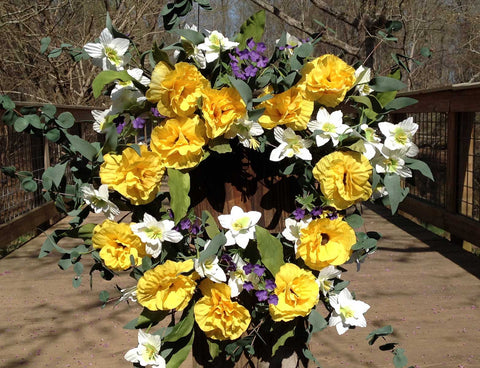 "Yellow Harmony Wreath - 22"" - 4"