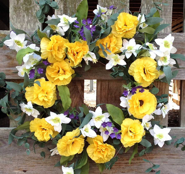 "Yellow Harmony Wreath - 22"" - 1"