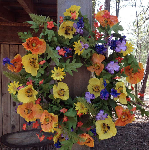 "Spring Meadows Wreath - 22"" - 3"