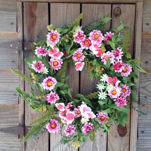 "Pink Harmony Wreath - 22"" - 5"