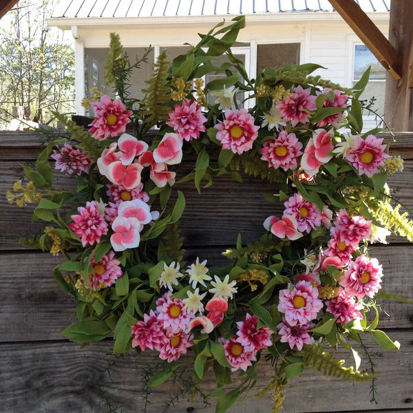 "Pink Harmony Wreath - 22"" - 3"