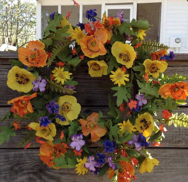 "Spring Meadows Wreath - 22"" - 1"