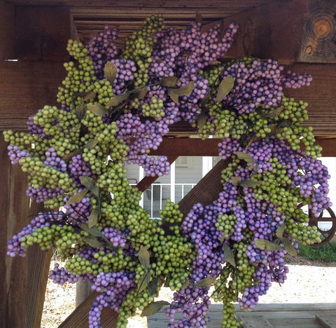 "Lavender Green Soft Touch Wreath - 24"" - 5"