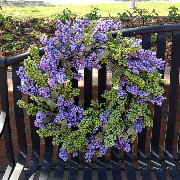 "Lavender Green Soft Touch Wreath - 24"" - 1"