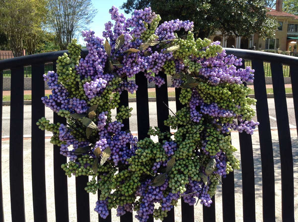 "Lavender Green Soft Touch Wreath - 24"" - 4"