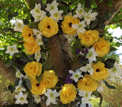 "Yellow Harmony Wreath - 22"" - 2"