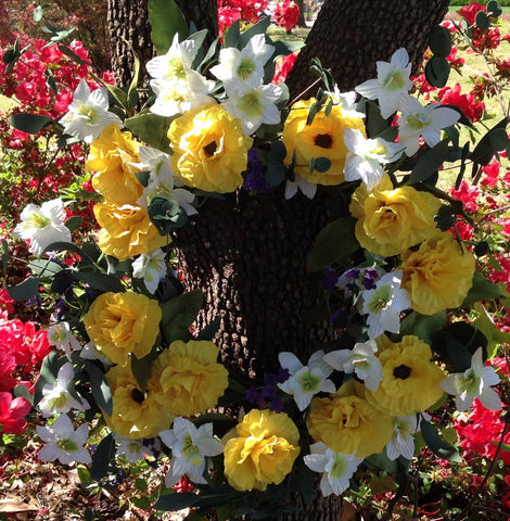 "Yellow Harmony Wreath - 22"" - 3"