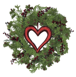 Valentines Berry Heart Wreath