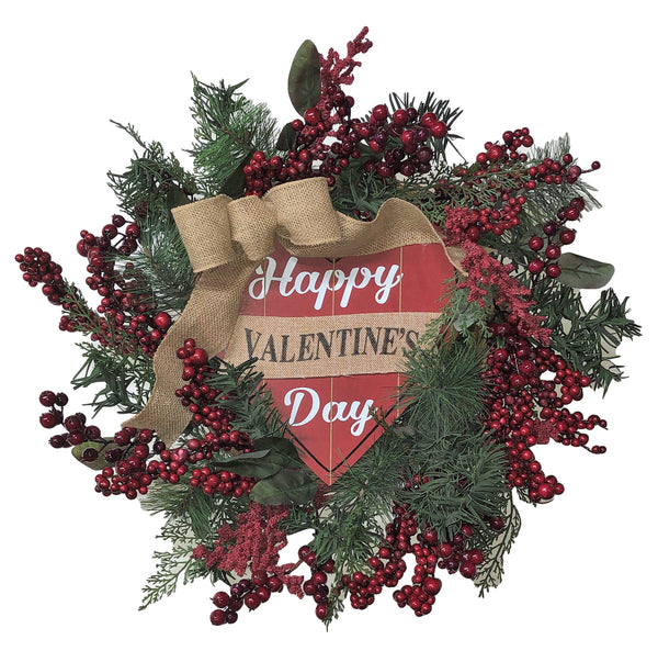 Happy Valentines Day Wreath
