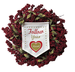 Follow Your Heart Valentines Day Wreath