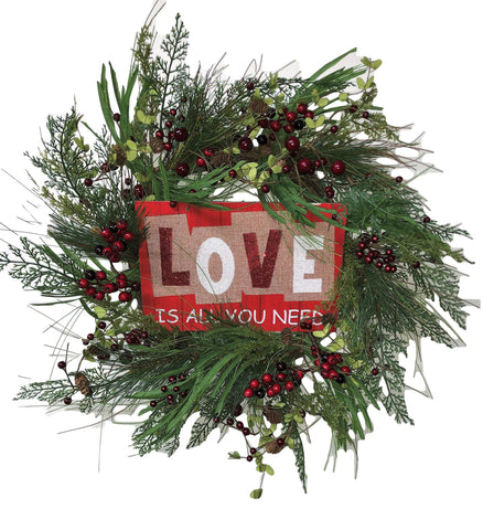 Love Is All You Need Valentines Day Wreath