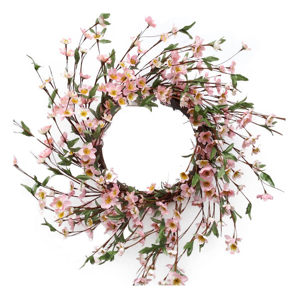 "Cherry Blossom Wreath 22""-  Pink"