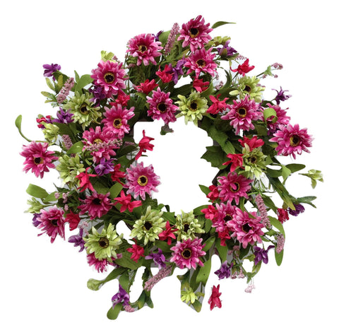 Think Pink Wreath - 22""
