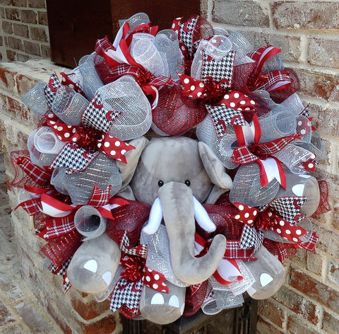 Alabama Crimson Tide  Collegiate Wreath w Elephant -26""