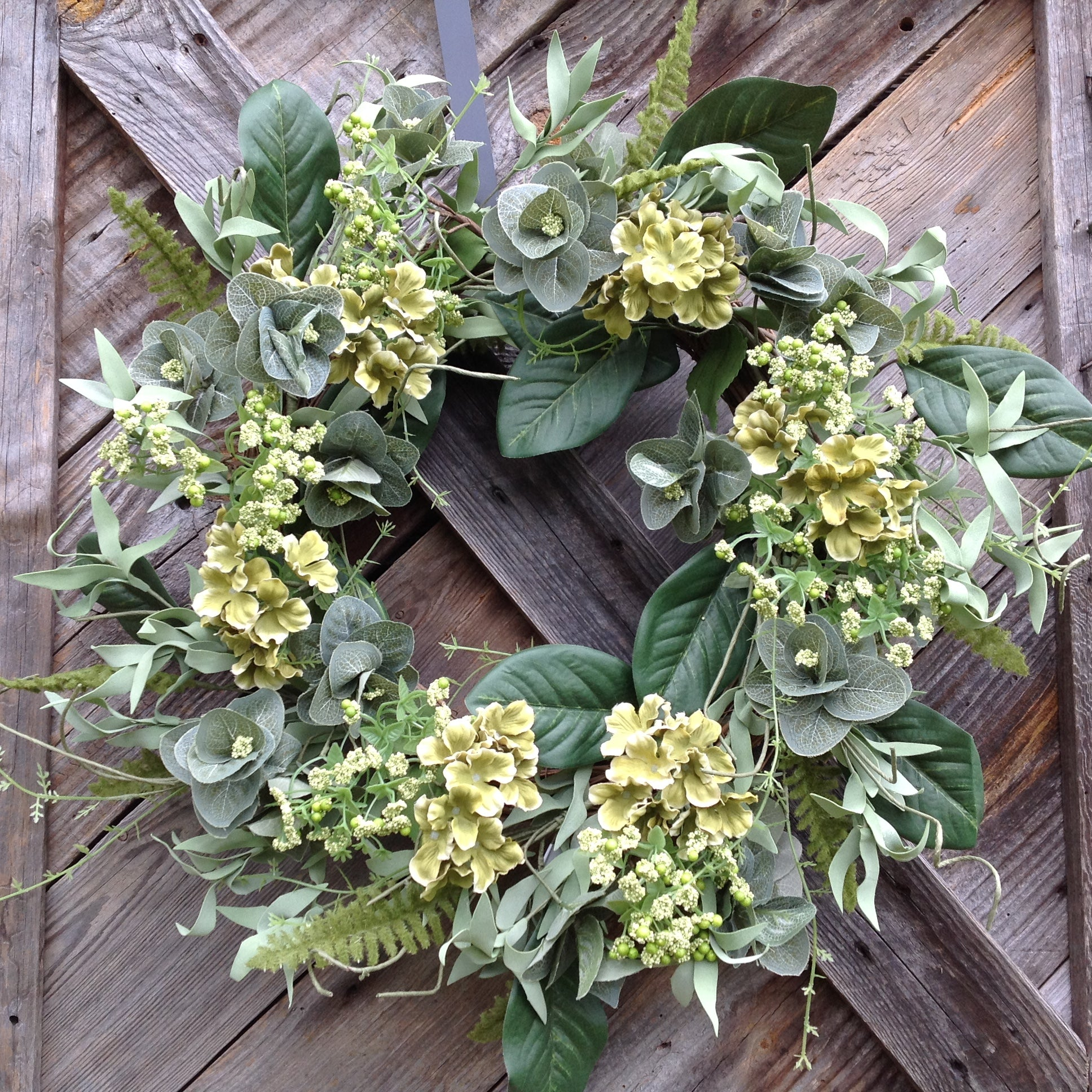 Farm House Hydrangea Wreath -24""