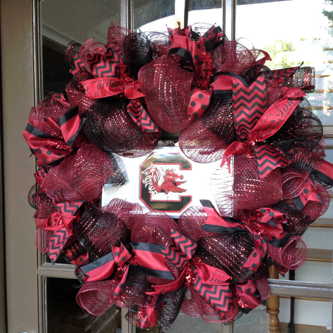 South Carolina Gamecocks Collegiate Wreaths with License Plate -26""