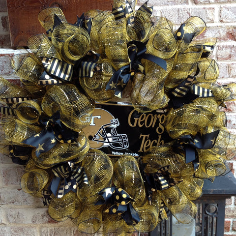 Ga Tech Yellow Jackets Collegiate Wreath - 26""