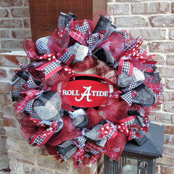 Alabama Crimson Tide Collegiate Wreath w Plate -26""