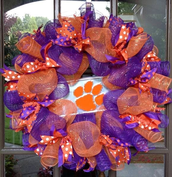 Clemson Tigers Collegiate Wreath - 24""