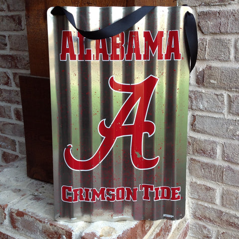 Alabama Crimson Tide Metal Sign with Hanger - 26""