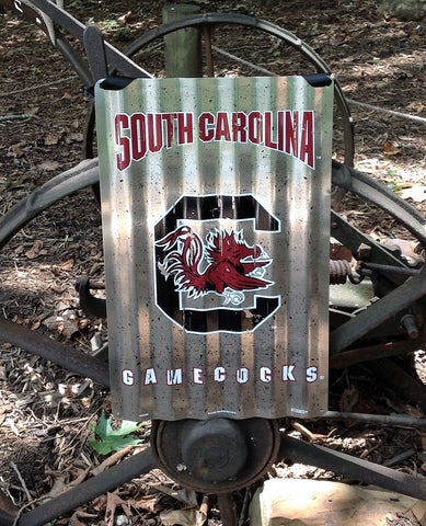 South Carolina Game Cocks Vintage Metal Sign with Hanger