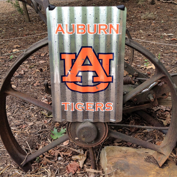 Auburn Tigers Vintage Metal Sign with Hanger -26""