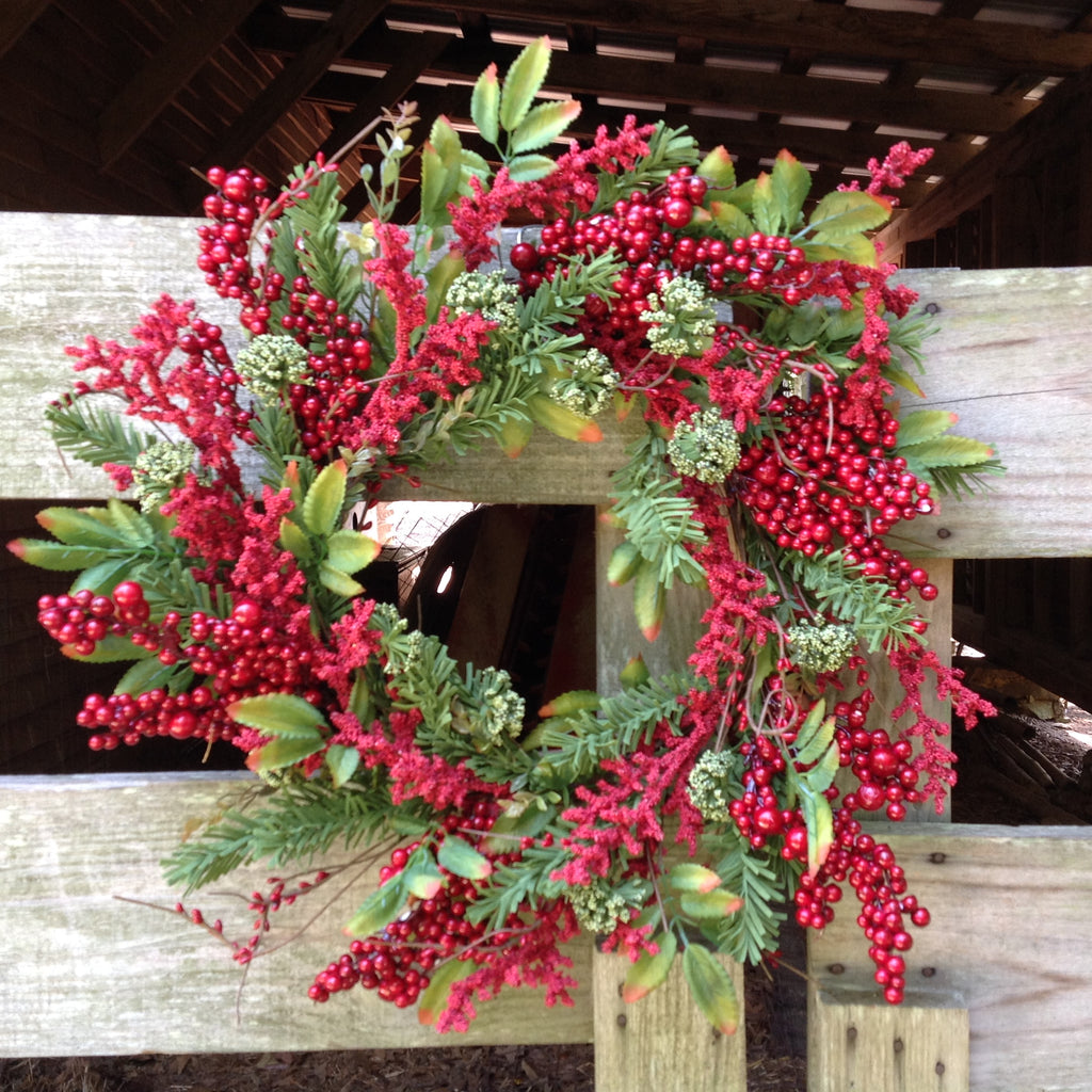 Holiday Farm Wreath 24 Flora Decor