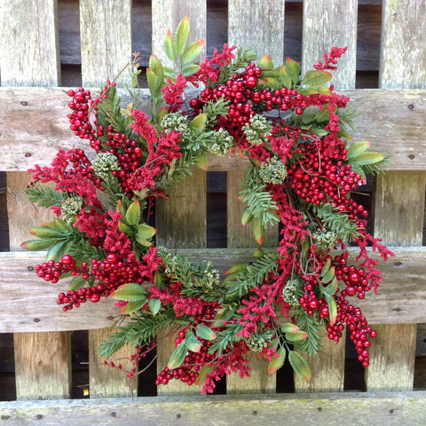 Holiday Farm Wreath -24""