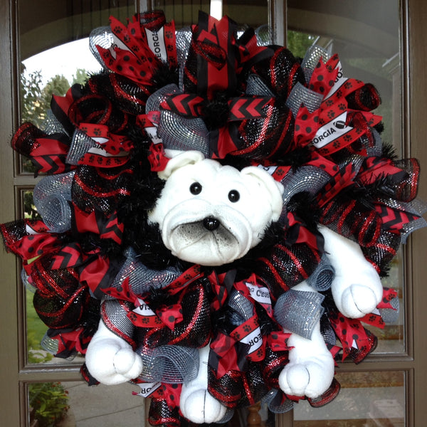 UGA Collegiate Wreaths with Bulldog -26""