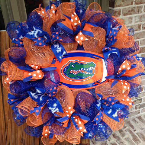 Florida Gators Collegiate Wreaths with License Plate -26""