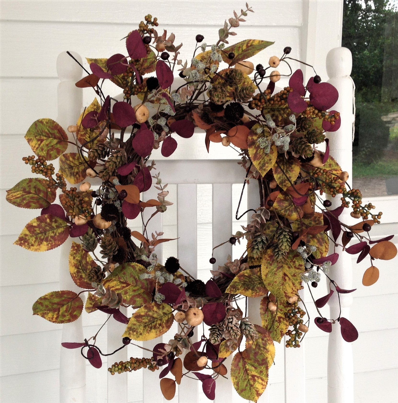 Purple Delight Eucalyptus Wreath