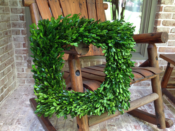 Preserved Boxwood Wreath Square 16""