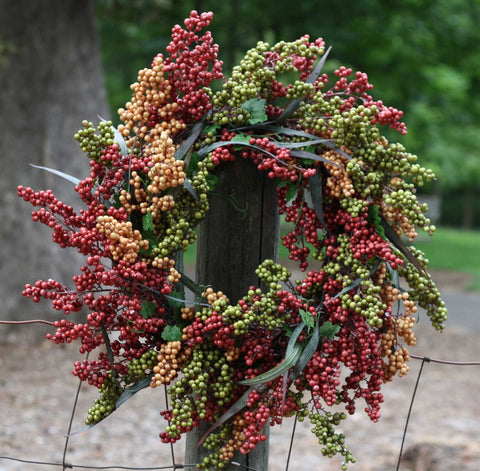 "24"" Bountiful Berry Wreath - Bliss - 2"