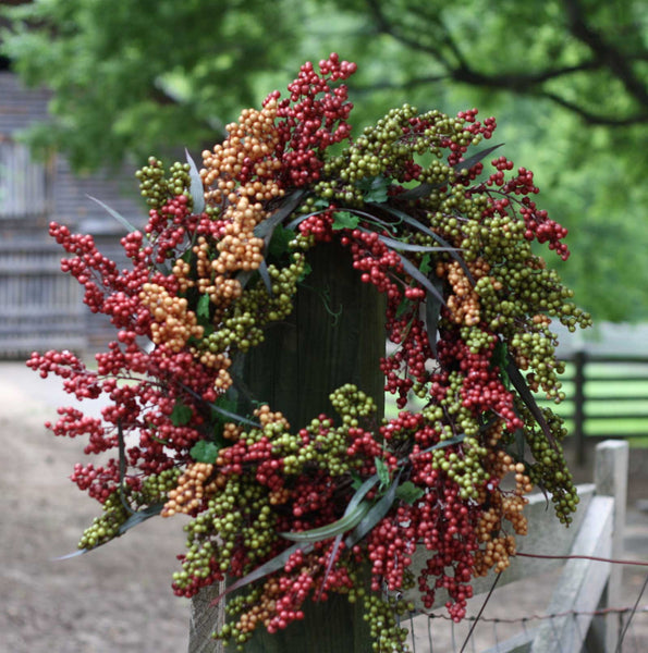 "24"" Bountiful Berry Wreath - Bliss - 3"