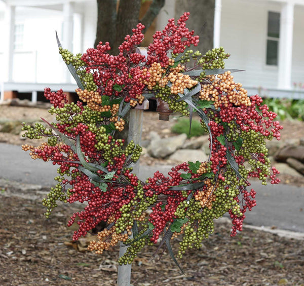 "24"" Bountiful Berry Wreath - Bliss - 4"