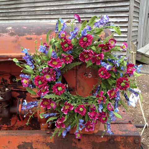 Larkspur Wreath - 22""