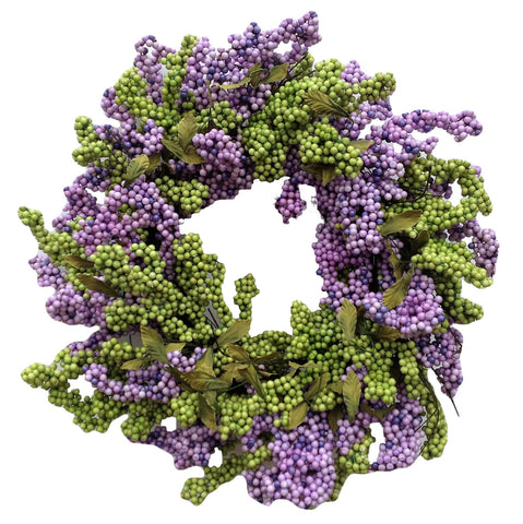 Lavender Green Soft Touch Wreath - 24""