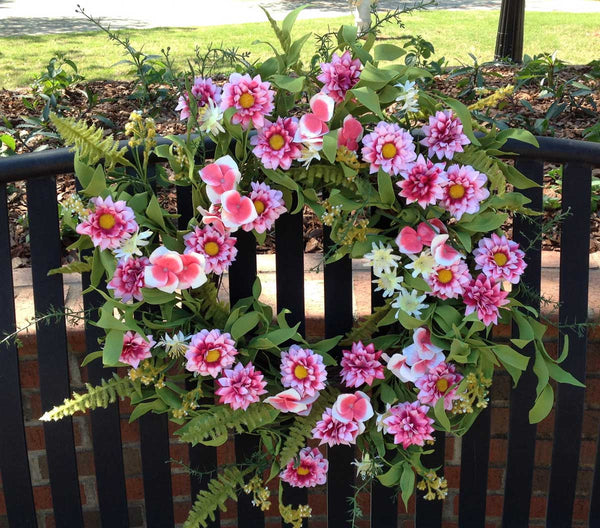 "Pink Harmony Wreath - 22"" - 2"