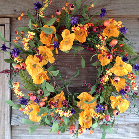 Orange & Purple Delight Wreath - 24""