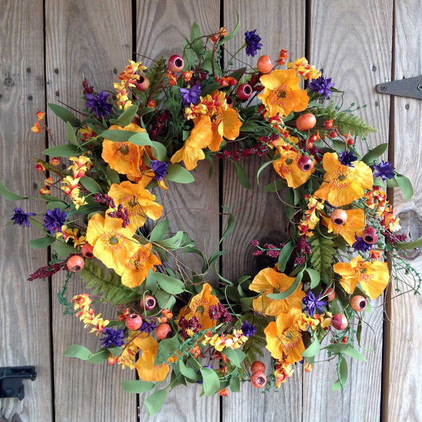 Orange & Purple Delight Wreath - 22""