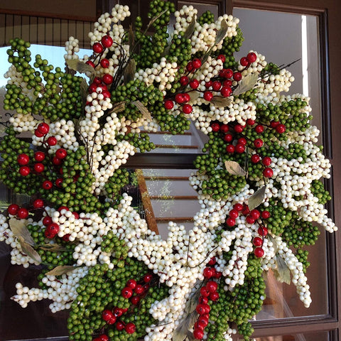 Peppermint Berry Wreath