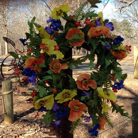 "Spring Meadows Wreath - 22"" - 5"