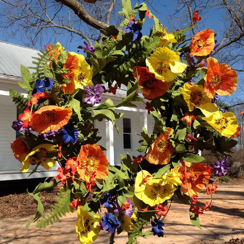 "Spring Meadows Wreath - 22"" - 4"