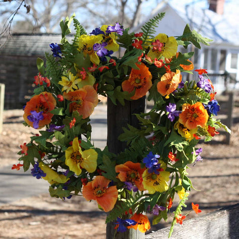 "Spring Meadows Wreath - 22"" - 6"