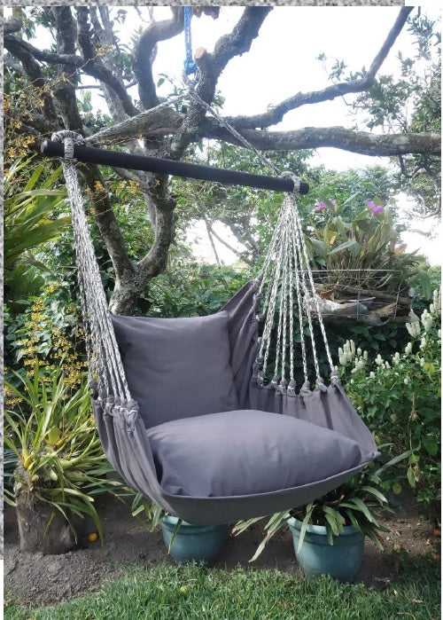 Hanging Hammock Chair   Gray Storm