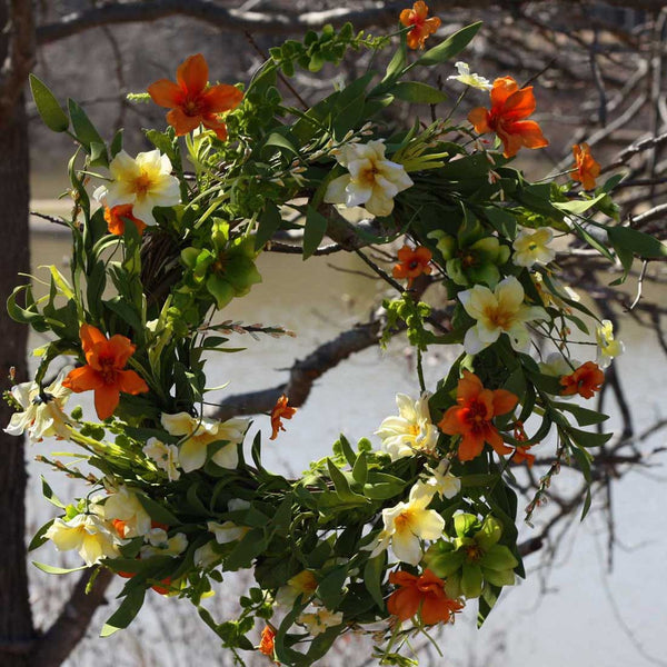 "Summer Sunrise Wreath 22"" - 3"