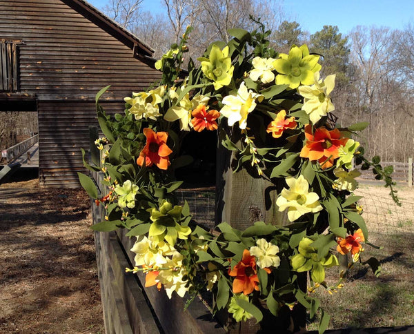 "Summer Sunrise Wreath 22"" - 6"