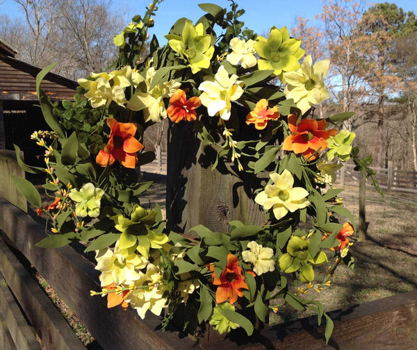 "Summer Sunrise Wreath 22"" - 7"