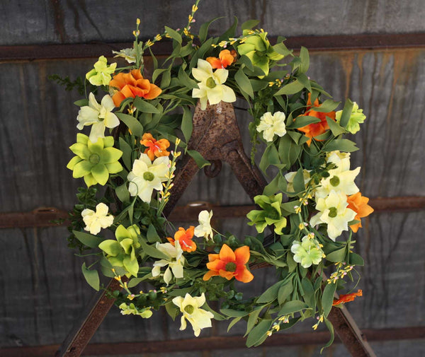 "Summer Sunrise Wreath 22"" - 8"